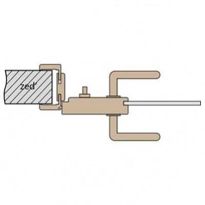 Vnitřní (W) - WC zámek se montuje na vnitřní stranu dveří
